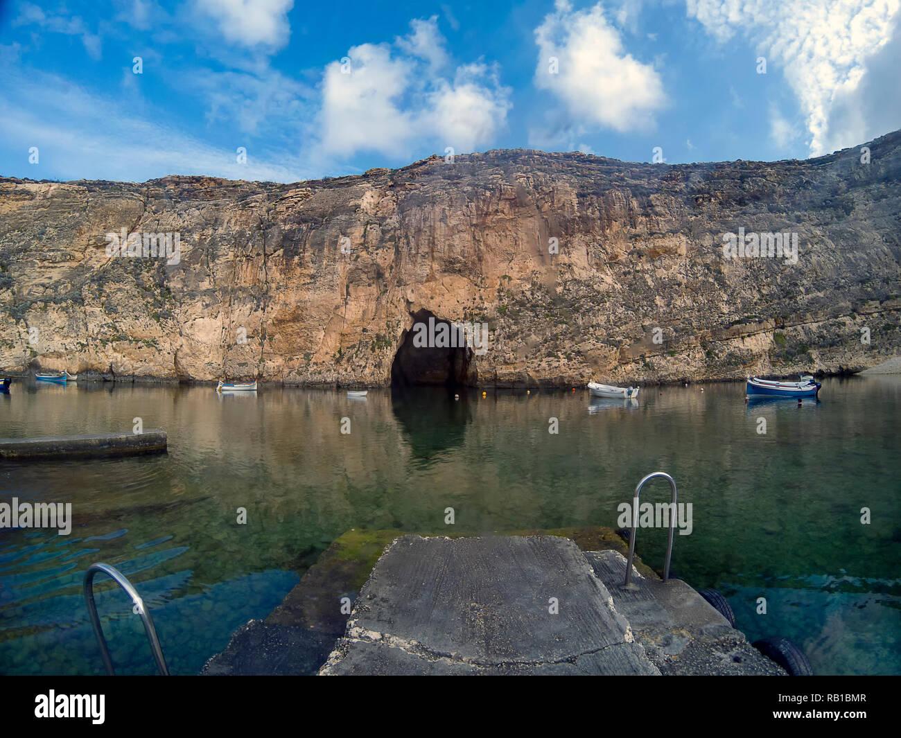 Inland Sea on the island of Gozo, Malta - Stock Image
