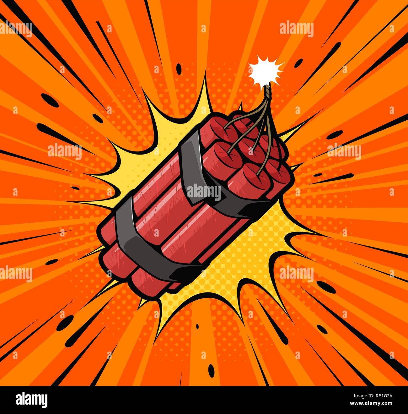 dynamite bomb explosion with burning wick detonate retro pop art style cartoon comic vector illustration stock vector image art alamy https www alamy com dynamite bomb explosion with burning wick detonate retro pop art style cartoon comic vector illustration image230530562 html