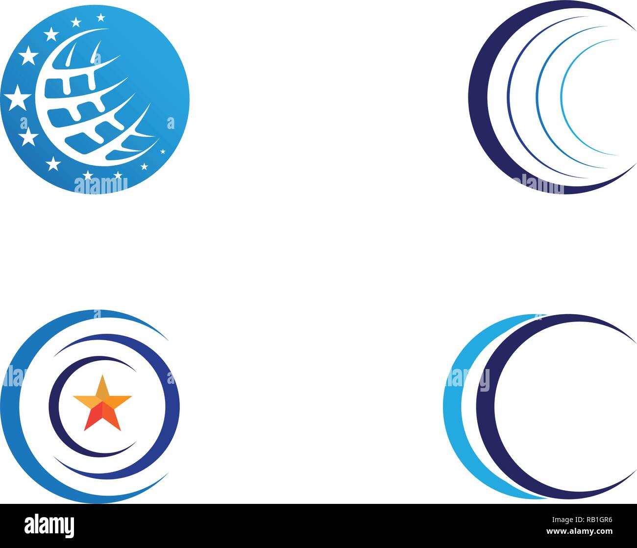 Wire World Logo Template vector illustration - Stock Image