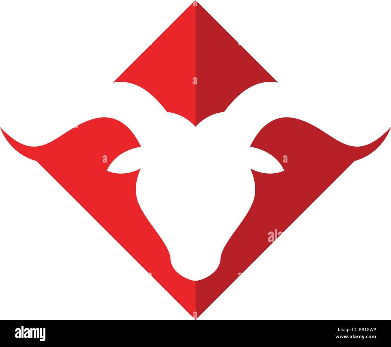 Bull horn logo symbols template icons app Stock Vector Art