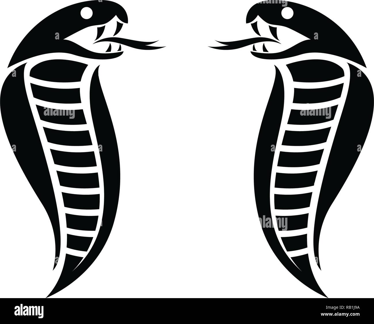 cobra logo high resolution stock photography and images alamy https www alamy com cobra logo template design in a triangle vector illustration image230532326 html
