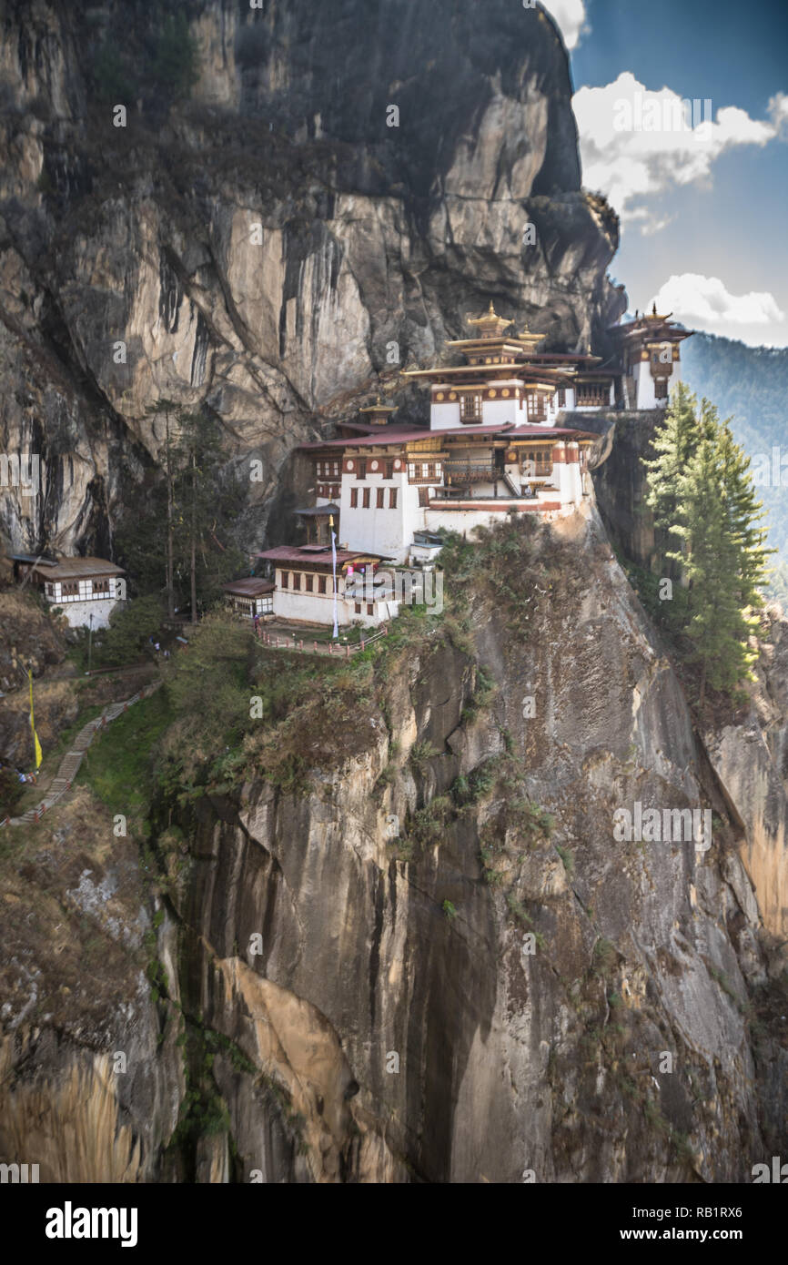 Taksang Tigers nest in Bhutan - Stock Image