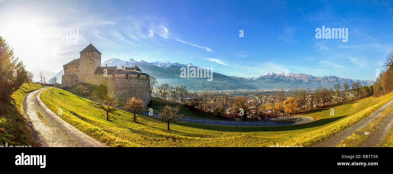 Castle, Vaduz, Liechtenstein Stock Photo