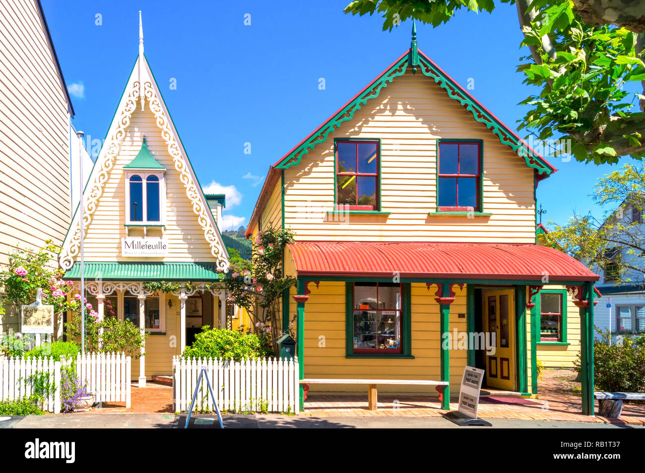 Nelson, South Street, New Zealand - Stock Image