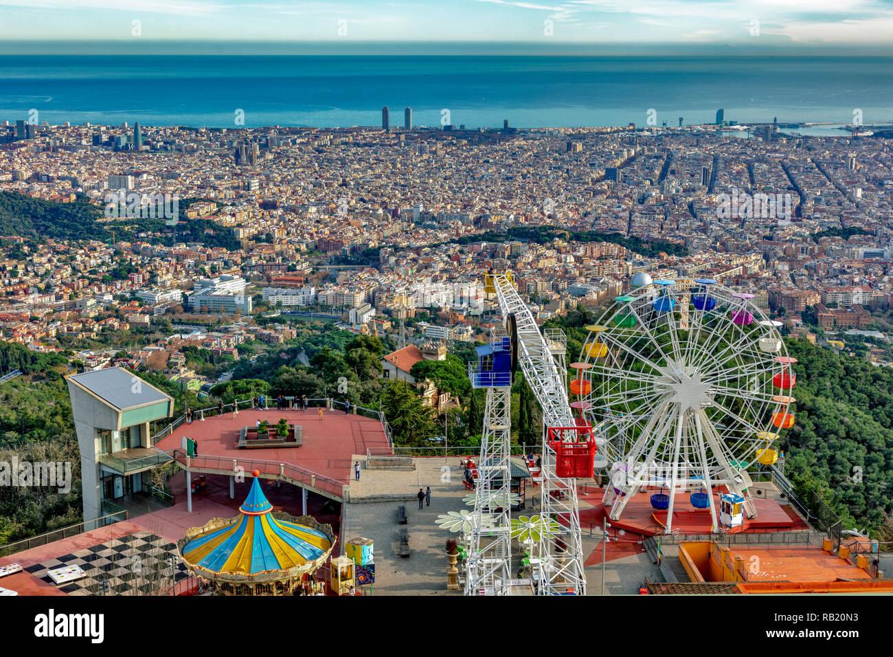 Freizeitpark Parque de Atracciones, Tibidabo, Barcelona, Katalonien, Spanien - Stock Image