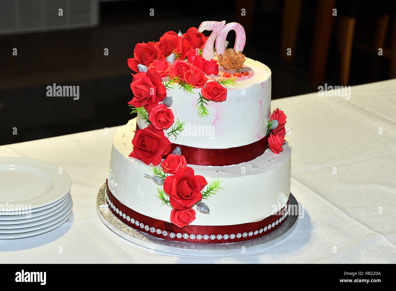 Surprising 70Th Birthday Cake Stock Photos 70Th Birthday Cake Stock Images Funny Birthday Cards Online Fluifree Goldxyz