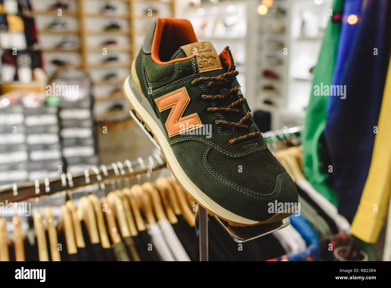 look good shoes sale the sale of shoes lowest discount Valencia, Spain - January 2, 2019: New Balance sneakers ...