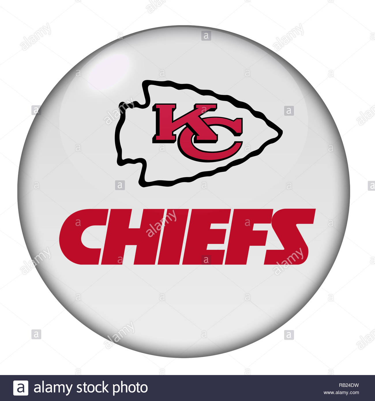 Kansas City Chiefs logo sign - Stock Image