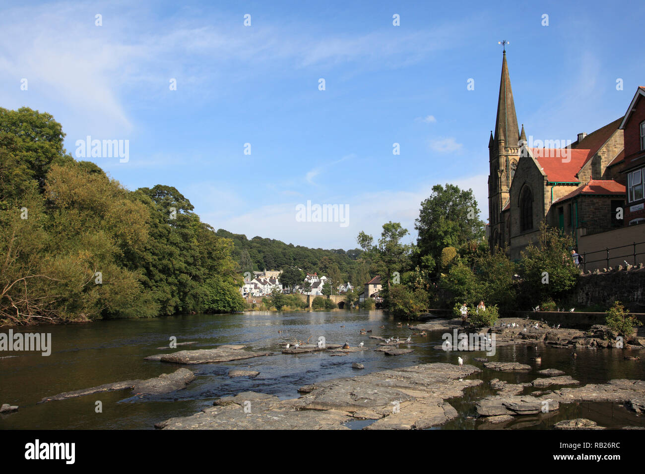 Llangollen, Dee River, Dee Valley, Denbighshire, North Wales, Wales, United Kingdom Stock Photo