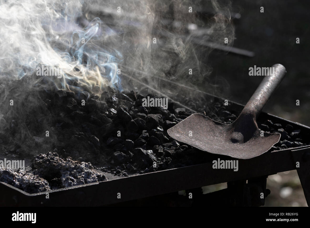 A blacksmith's workplace - Stock Image