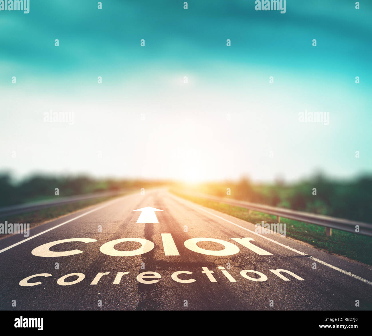 Color correction concept - Stock Image
