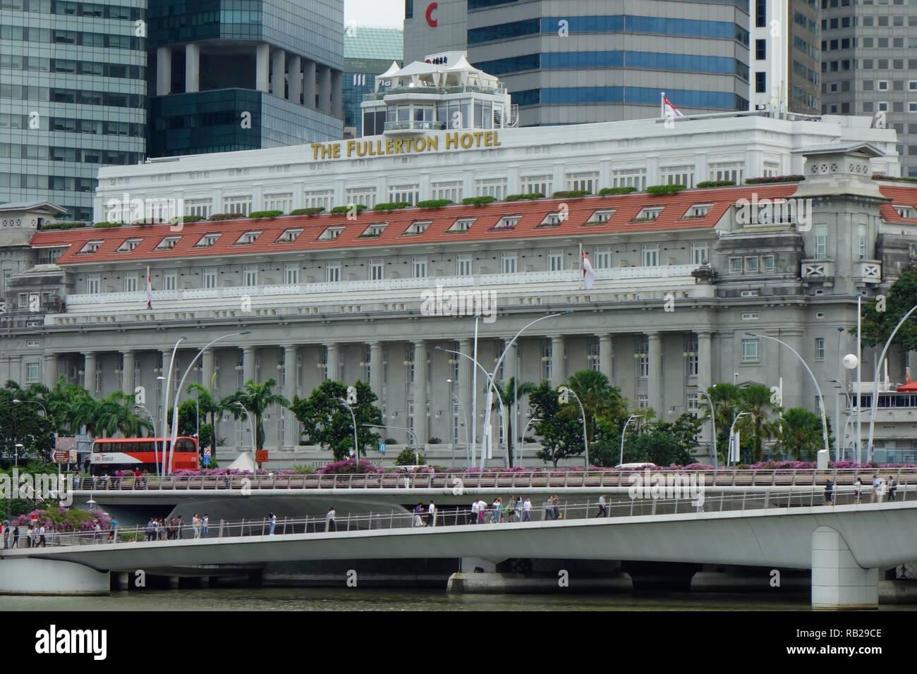 The Fullerton Hotel, Singapore, Asia. - Stock Image
