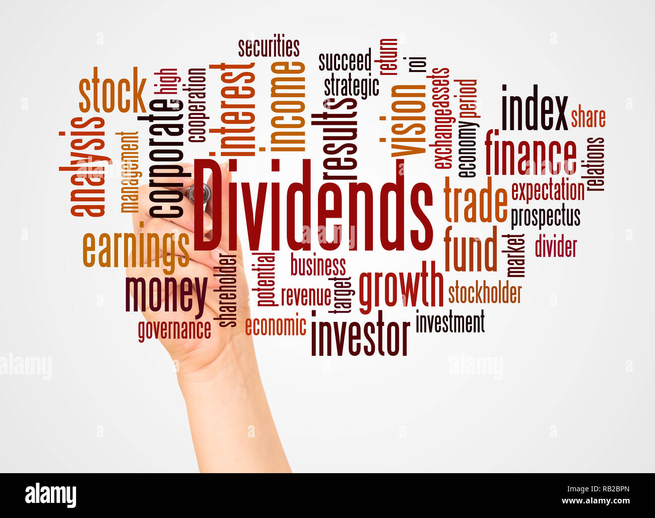 Potential Divider Stock Photos Images Alamy Circuit Of A Voltage Also Called Is Dividends Word Cloud And Hand With Marker Concept On White Background Image