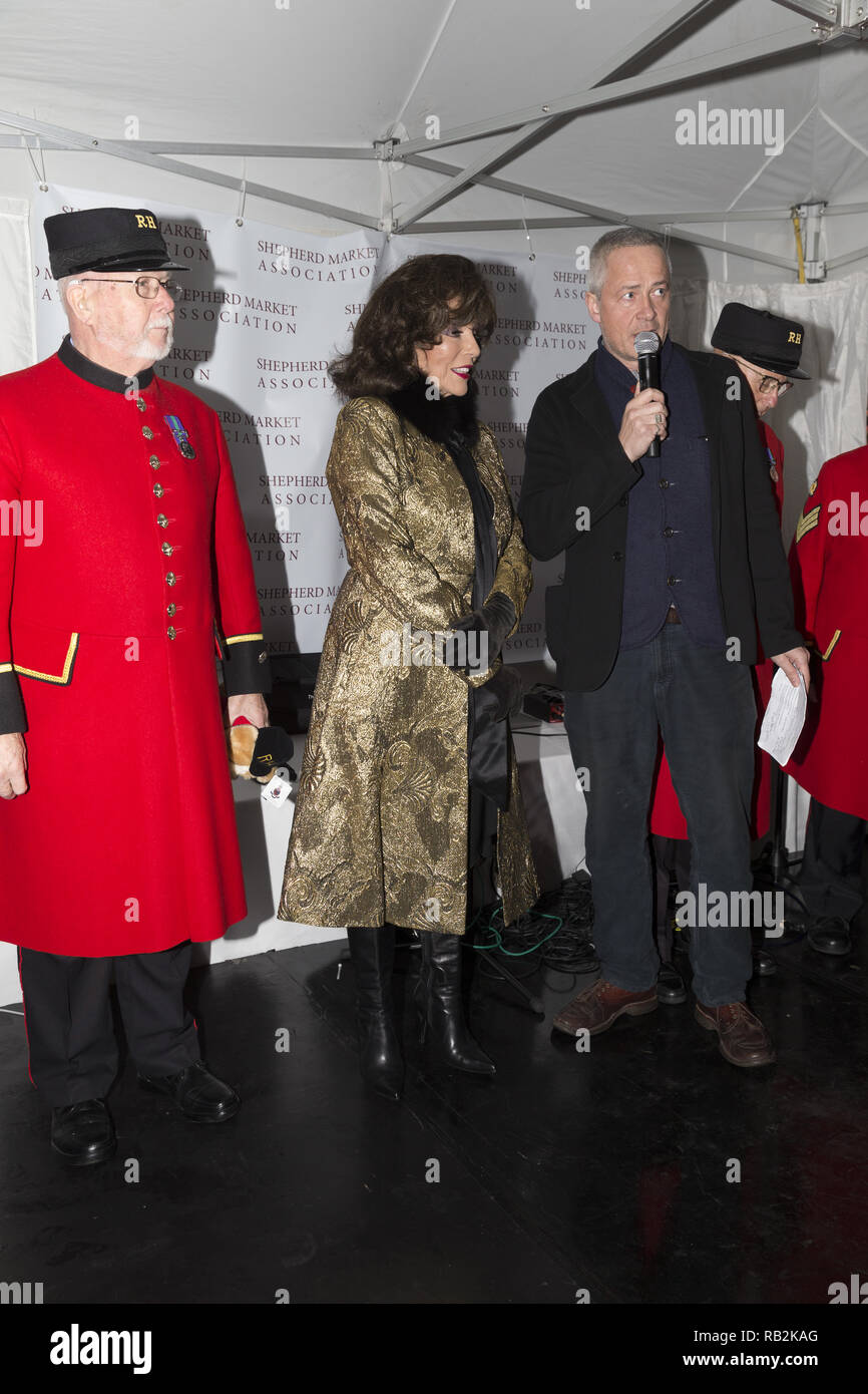 The Christmas Shepherd.Dame Joan Collins Switches The Christmas Lights On At