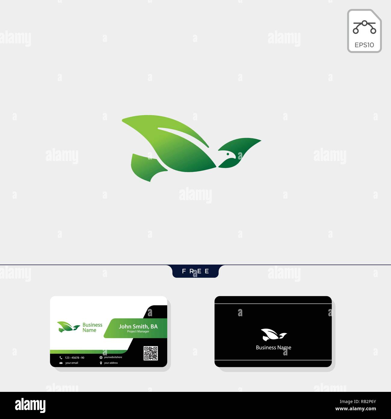 flying bird logo template vector illustration, free business