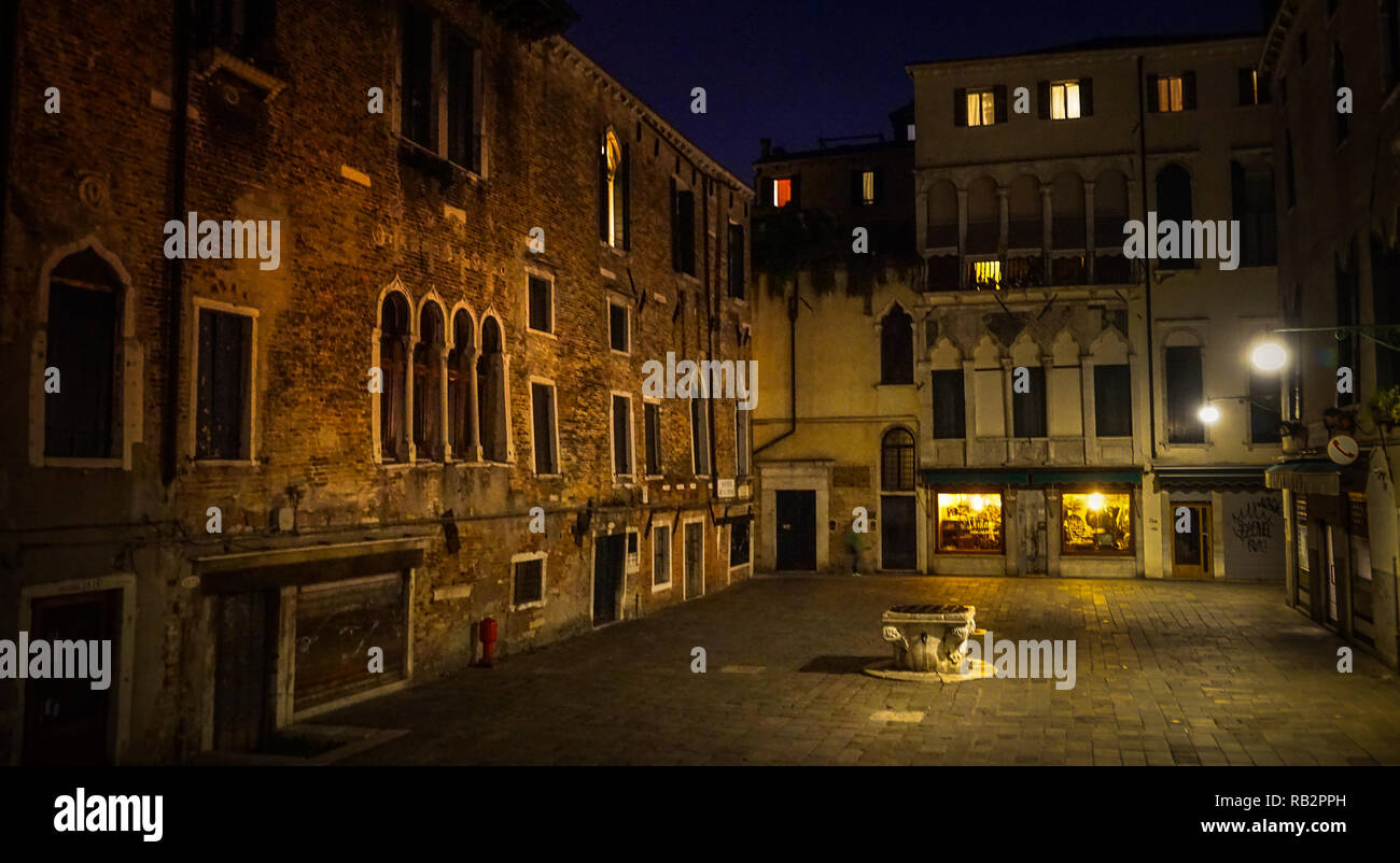 Venedig, Nacht Stock Photo