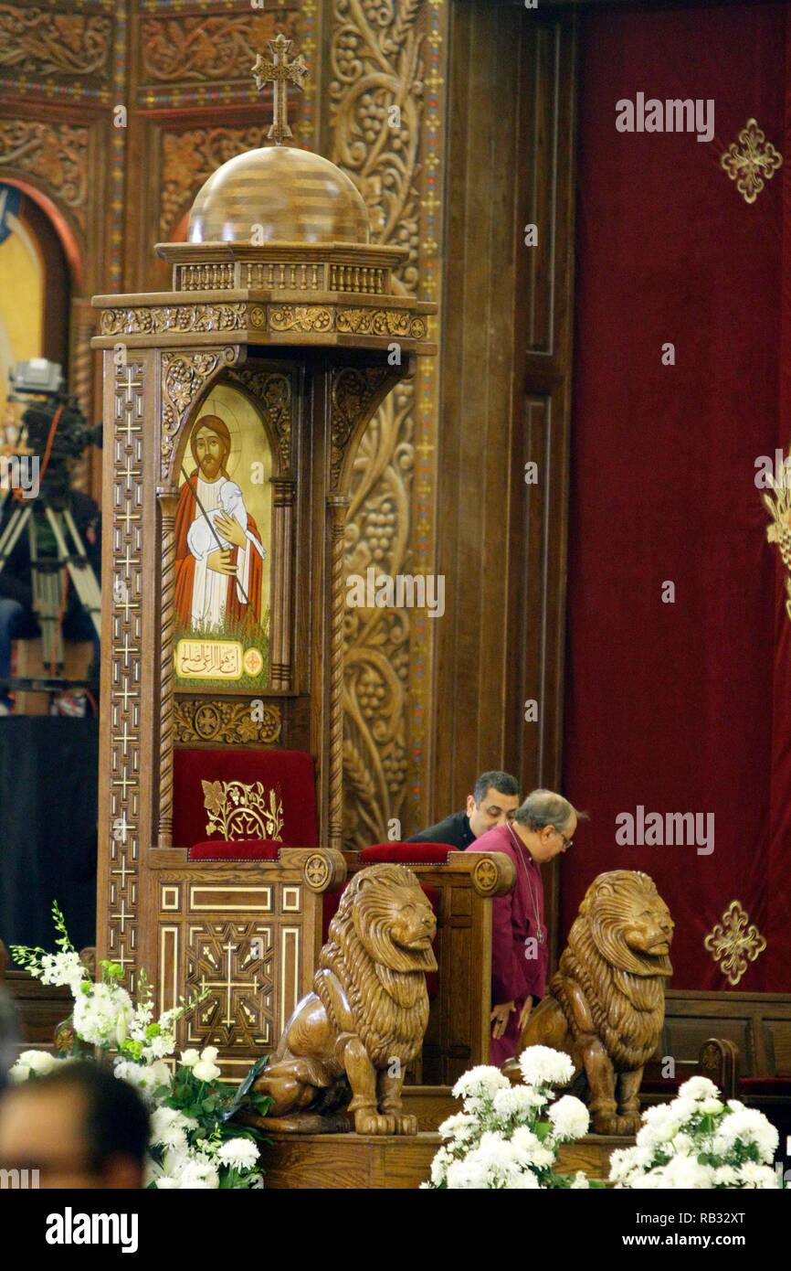 Eastern Orthodox Christmas.Cairo Egypt 06th Jan 2019 A General View Of The Papal