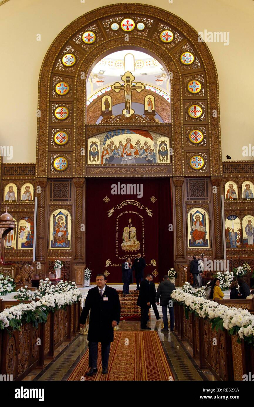 Eastern Orthodox Christmas.Cairo Egypt 06th Jan 2019 A General View Of The Coptic