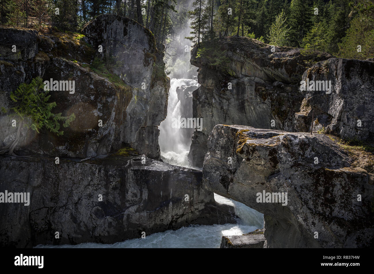 Nairn Falls, British Columbia, Canada - Stock Image