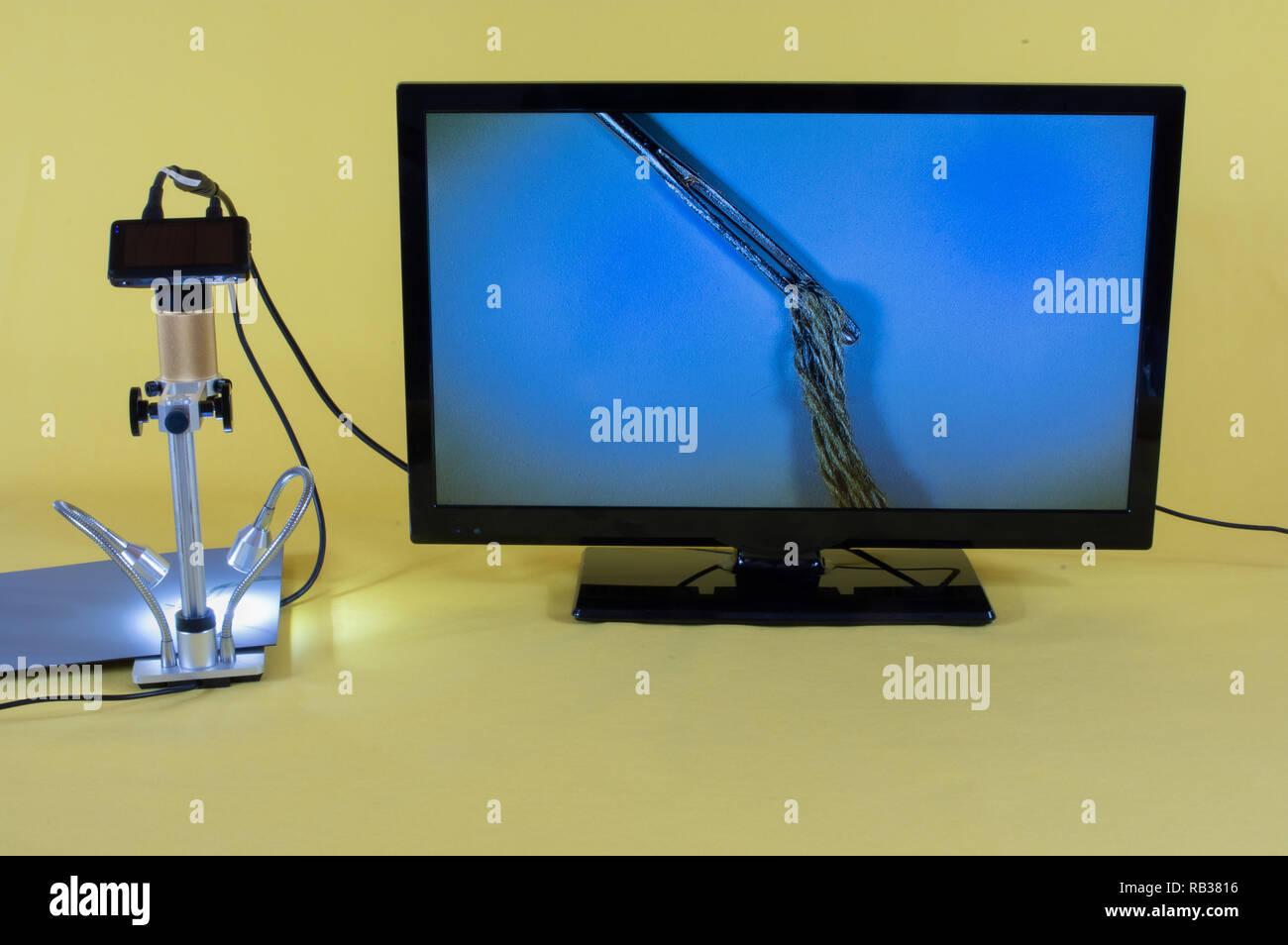 Elektro Mikroskop - Stock Image