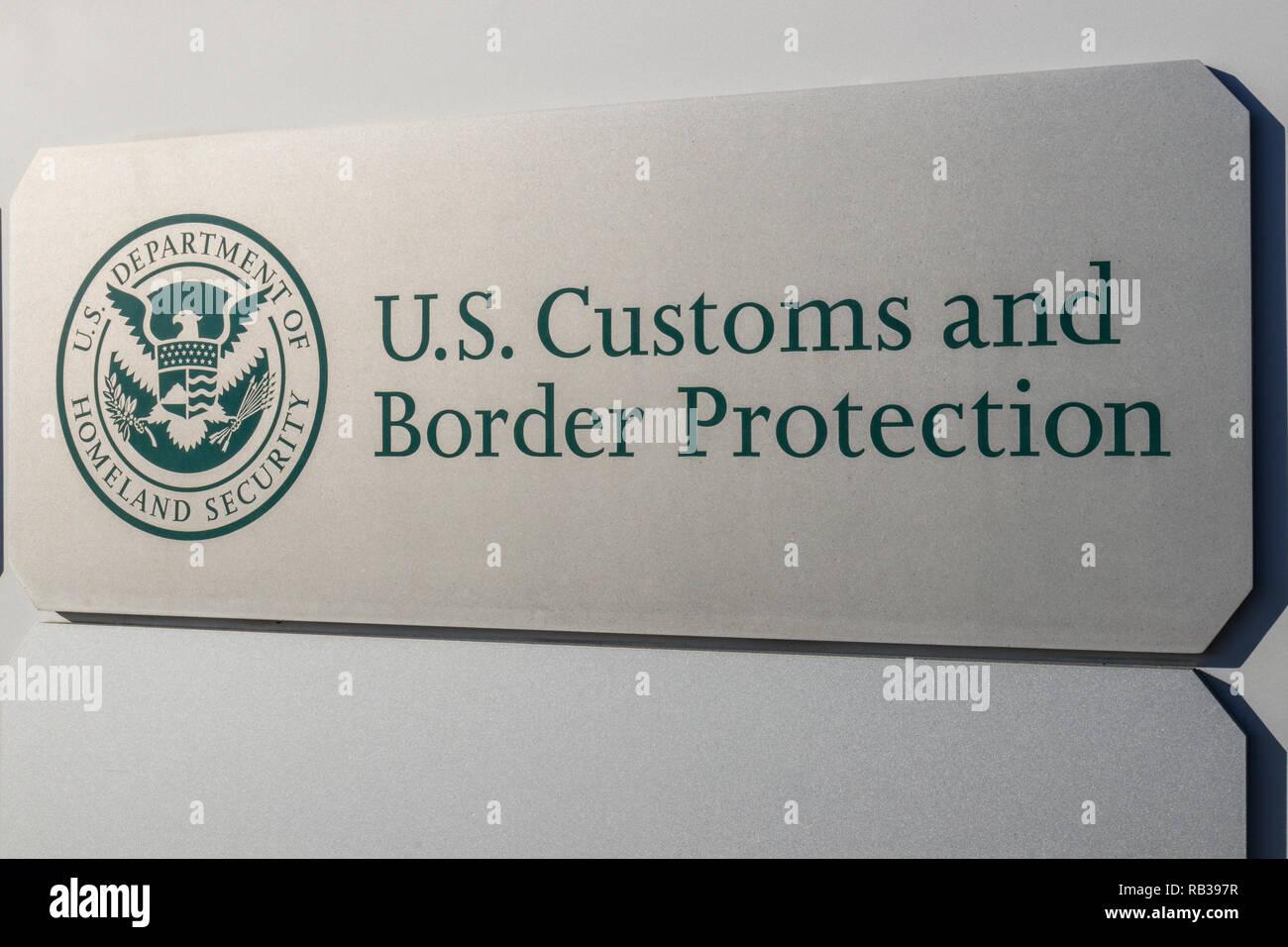 Indianapolis - Circa January 2019: Customs and Border