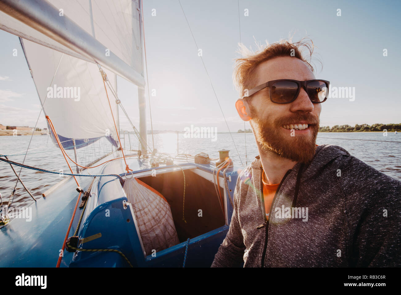 Navy Sea Captain Sunglasses