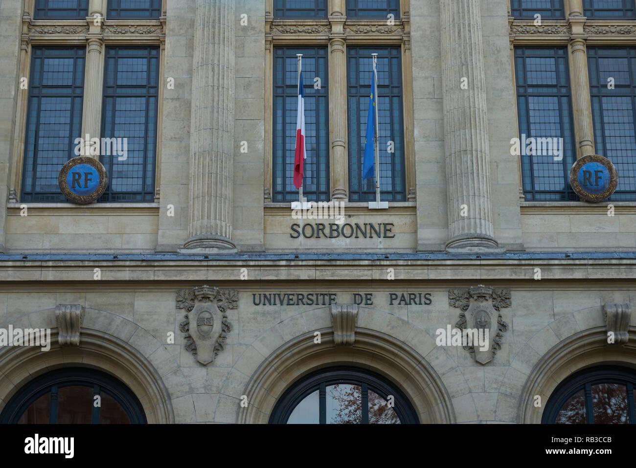sorbonne university of paris - Stock Image
