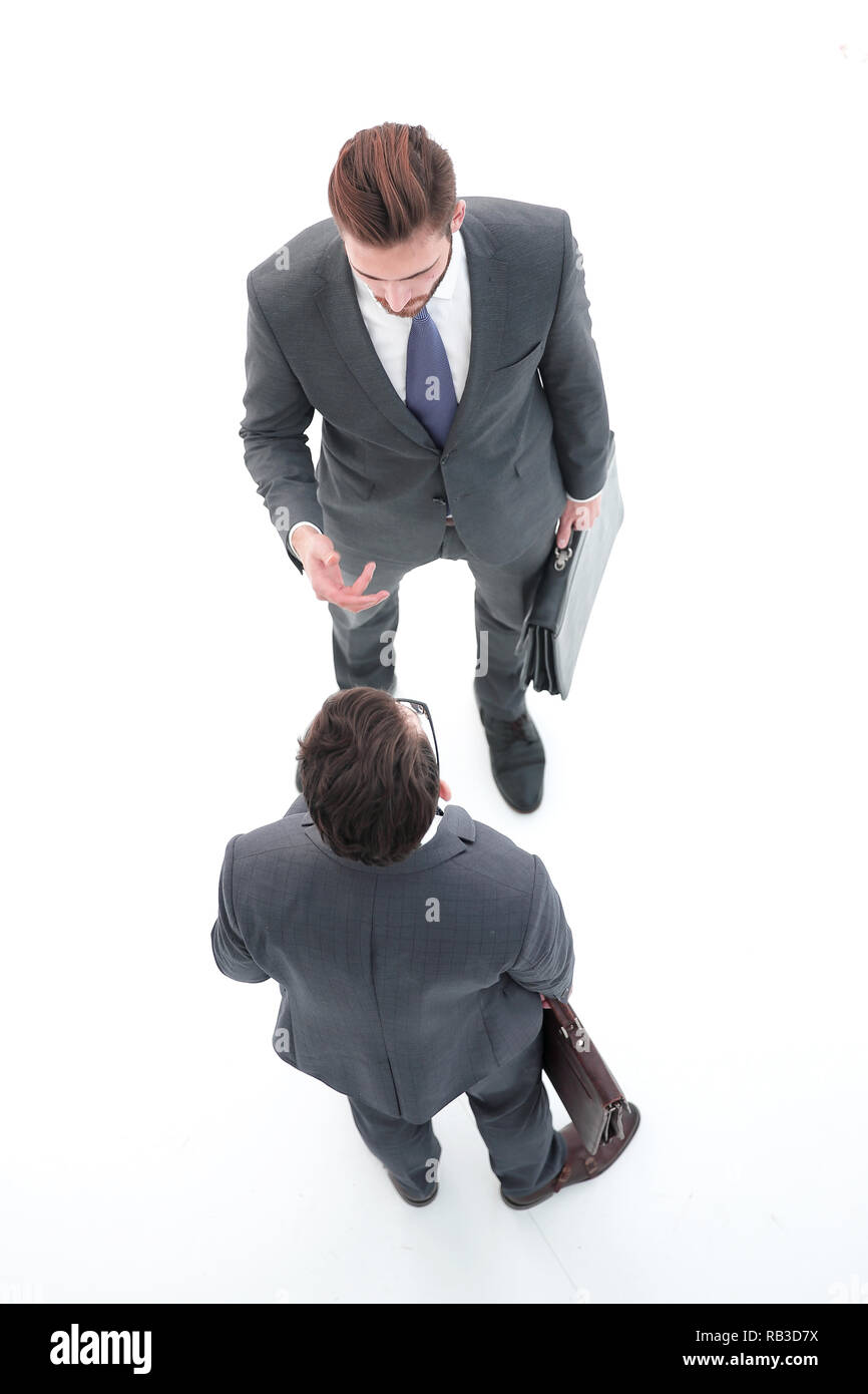 top view.two business competitor. - Stock Image