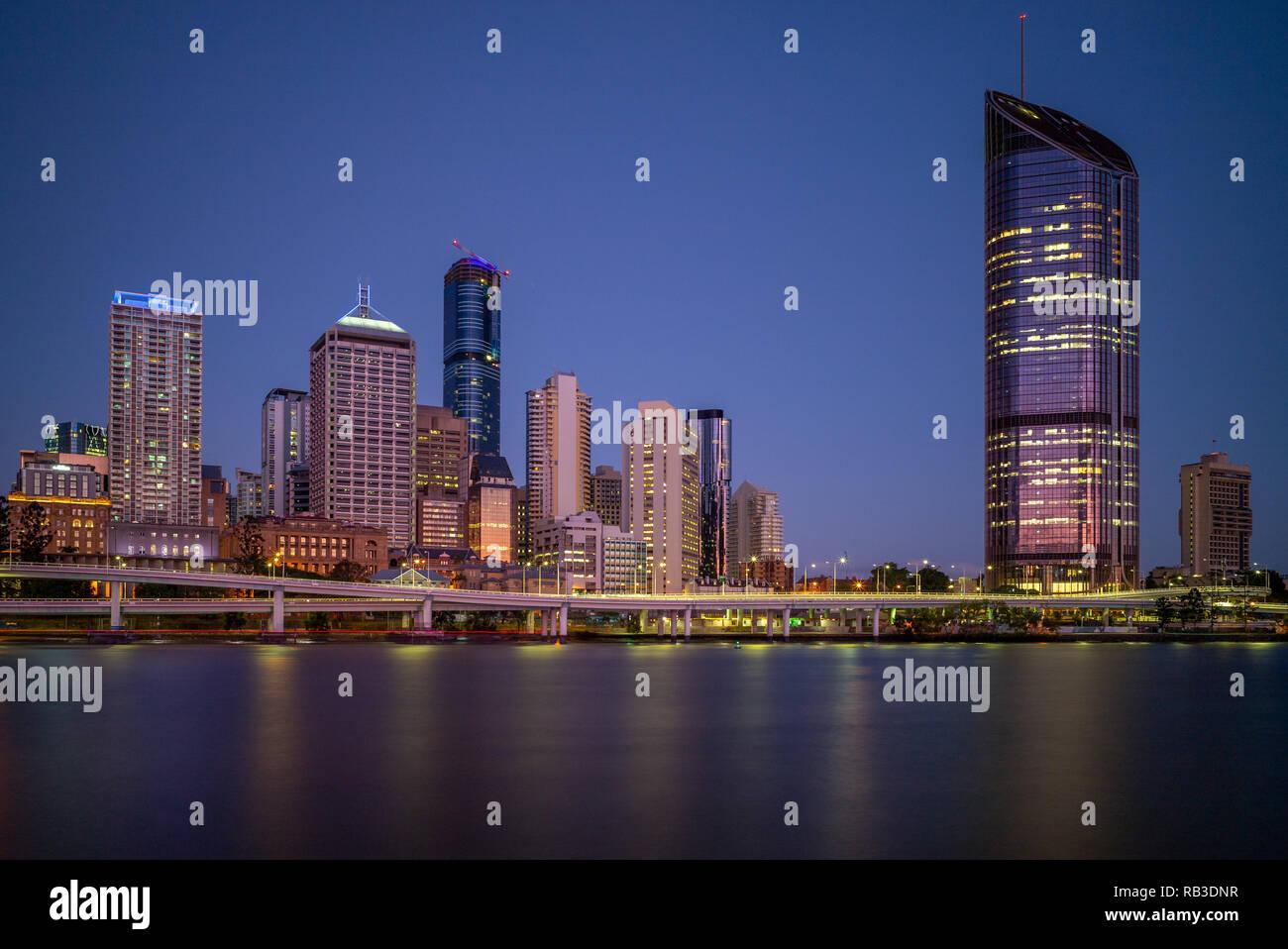 Brisbane skyline, capital of Queensland, Australia - Stock Image