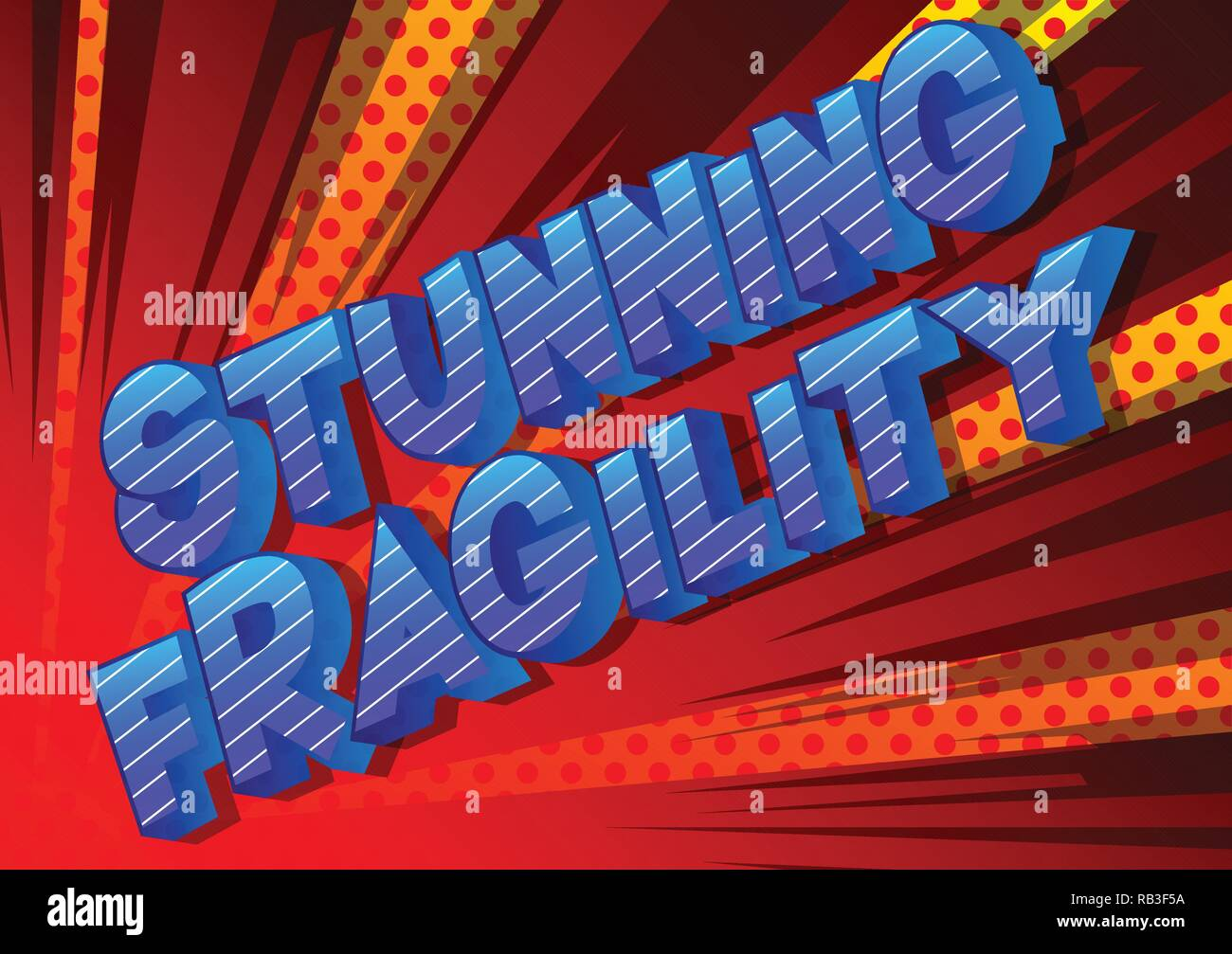 Stunning Fragility - Vector illustrated comic book style phrase on abstract background. - Stock Vector