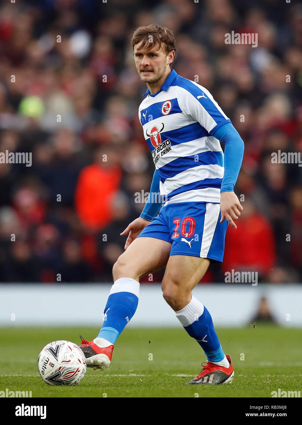 Reading's John Swift during the Emirates FA Cup, third round match
