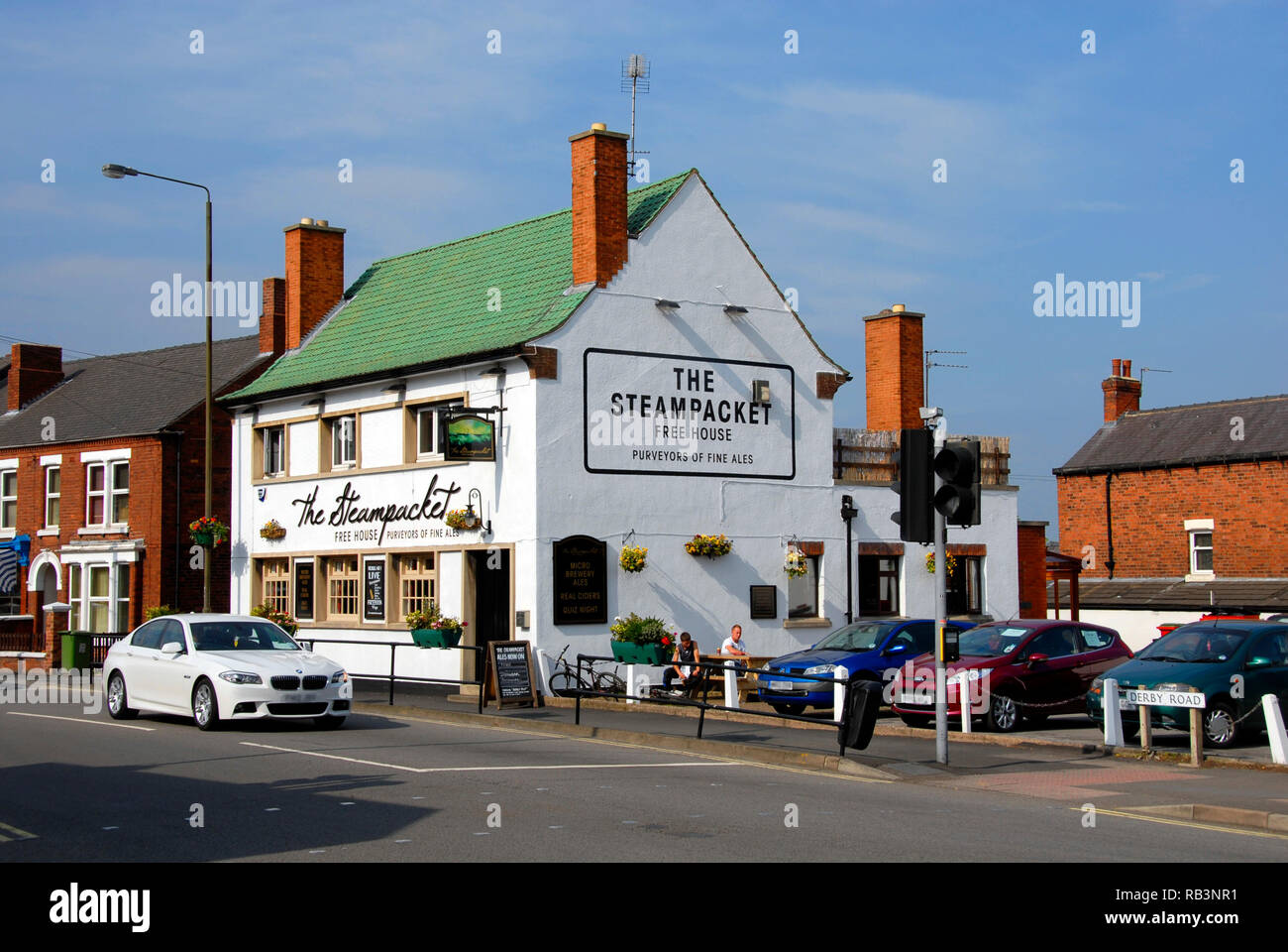 The Steampacket public house, Swanwick, Derbyshire, England Stock ...