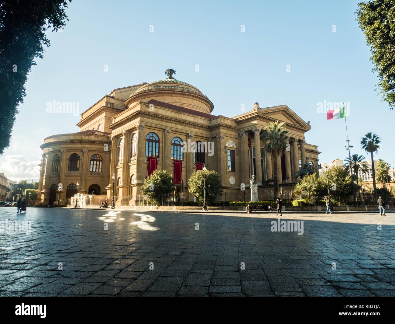 The Teatro Massimo Vittorio Emanuele, an Opera House in Piazza Verdi ...