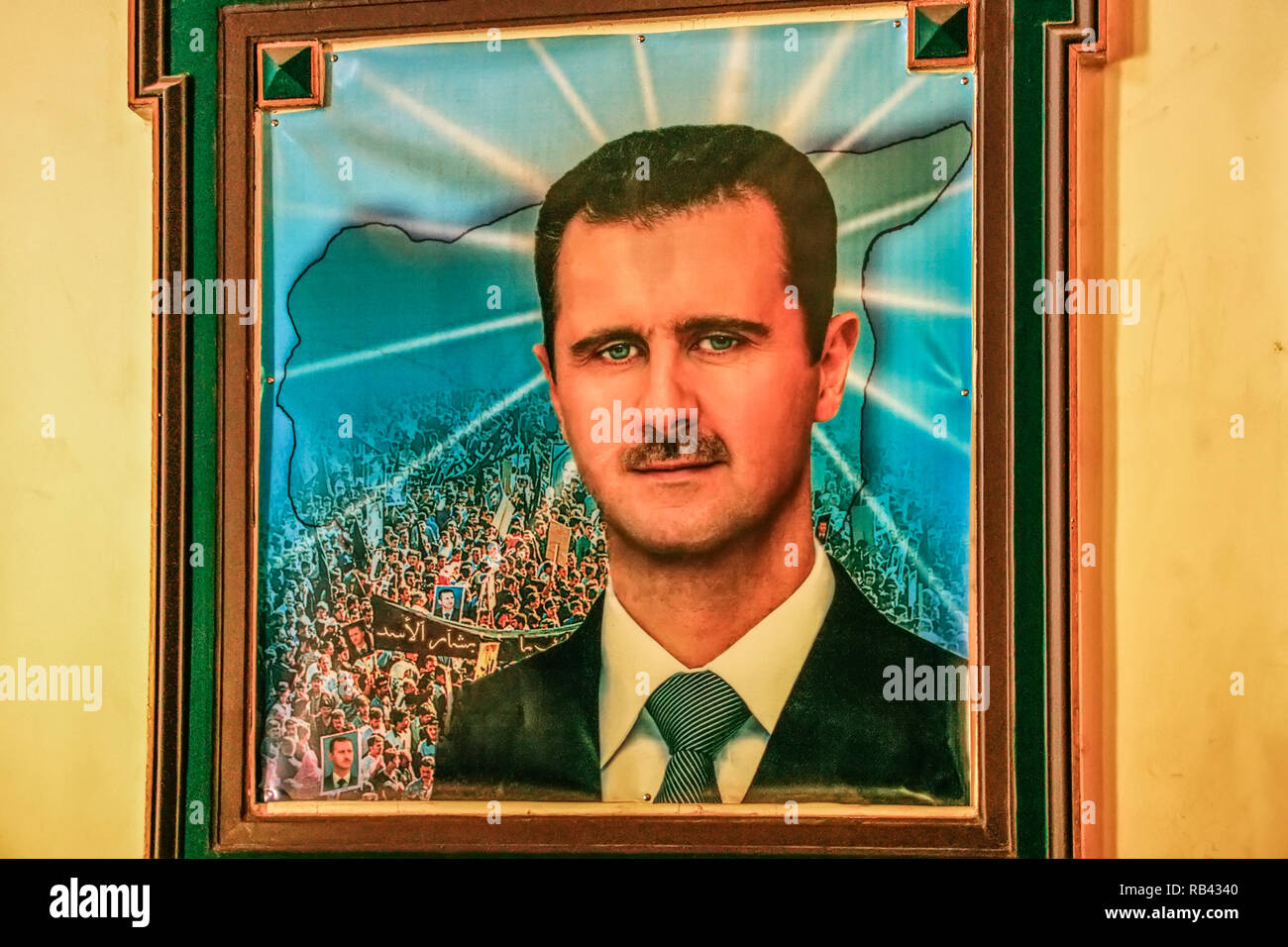Picture of President Bachar al Assad. Damascus. Syria, Middle East - Stock Image