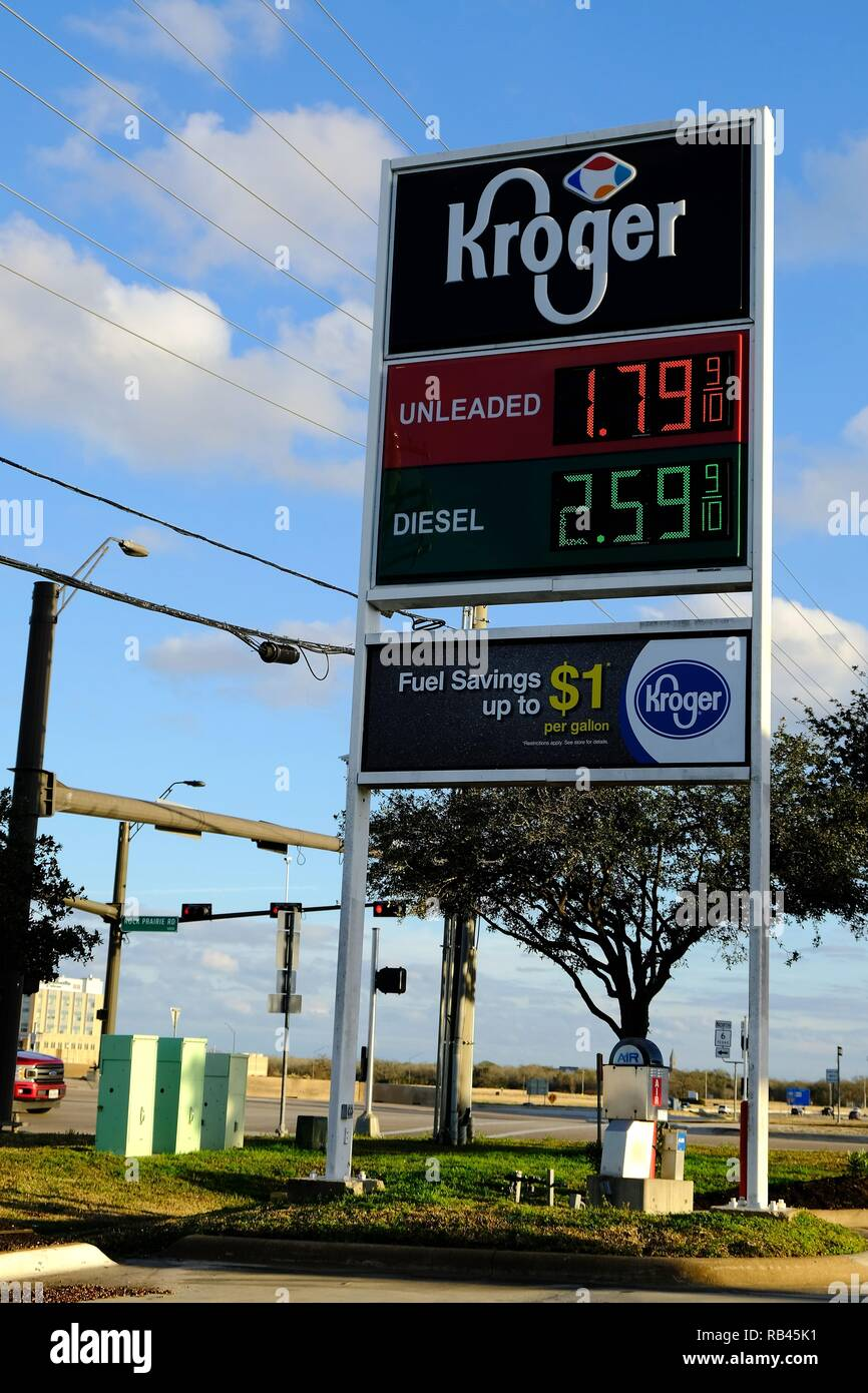 Gas Prices In Texas >> College Station Texas Usa 6th Jan2019 Low Gasoline