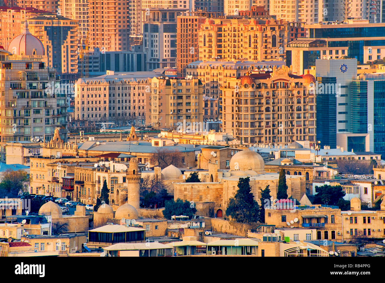 View of Baku, Azerbaijan Stock Photo