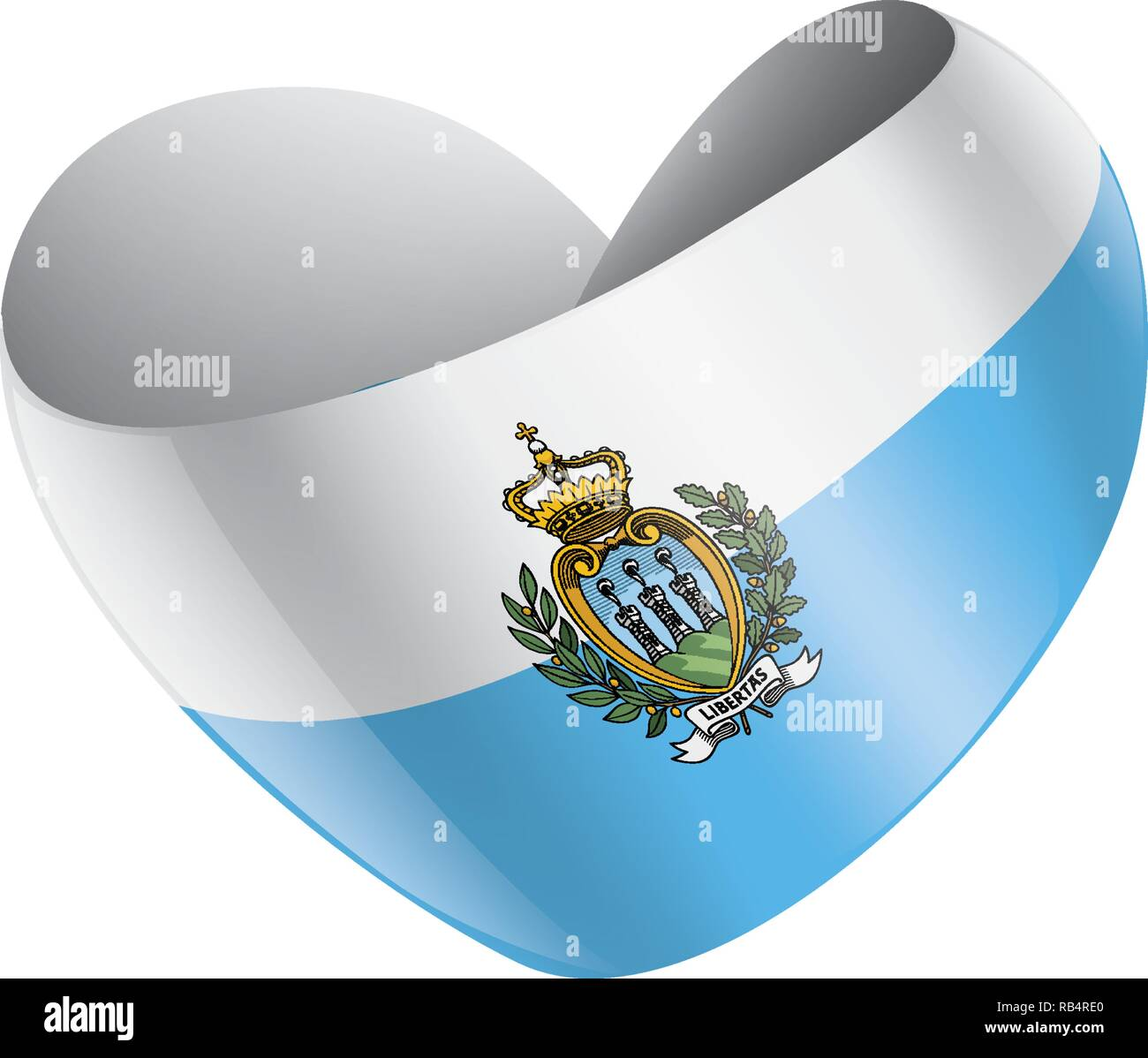 San Marino flag, vector illustration on a white background - Stock Image