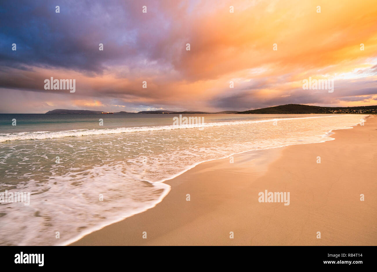 Albany, Western Australia. Middleton Beach at sunset - Stock Image