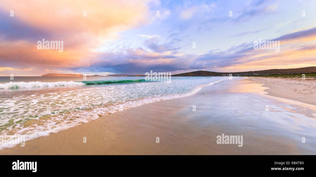 Middleton Beach at sunset. Albany, Western Australia - Stock Image