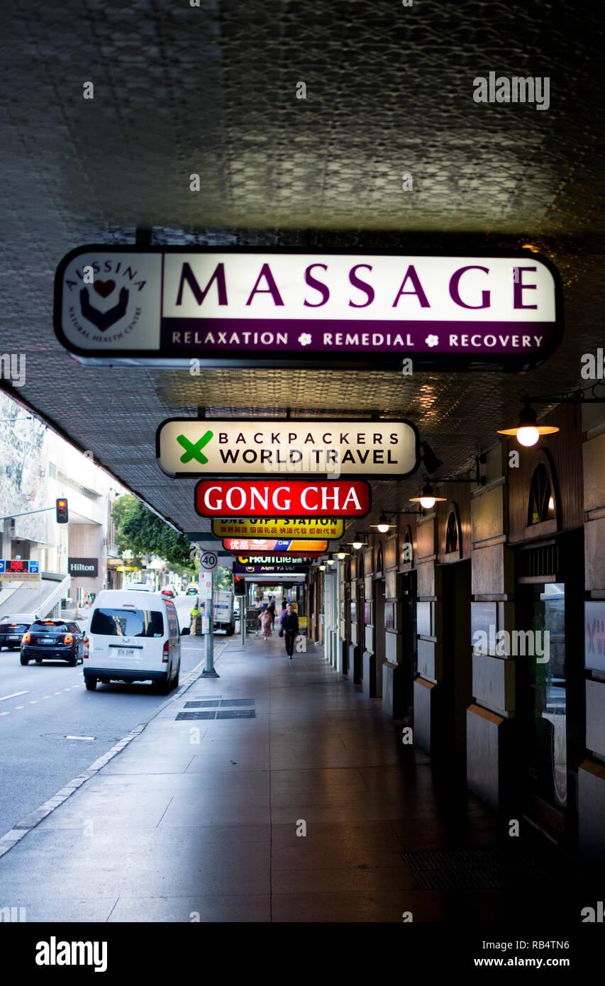 Elizabeth Street, Brisbane city centre, Queensland, Australia - Stock Image