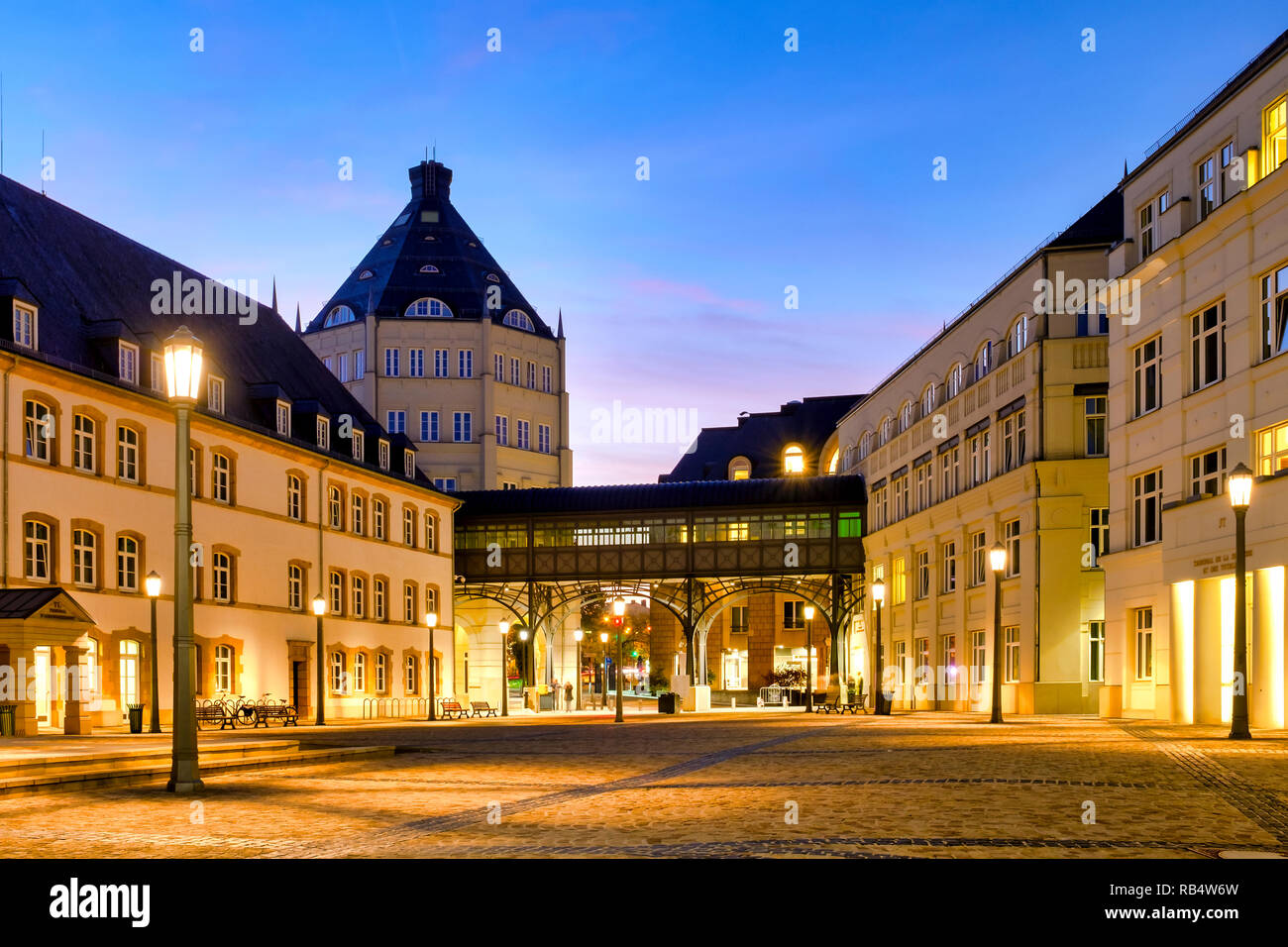 Judiciary City on the plateau St. Espirit,  Luxembourg City,  Luxembourg - Stock Image