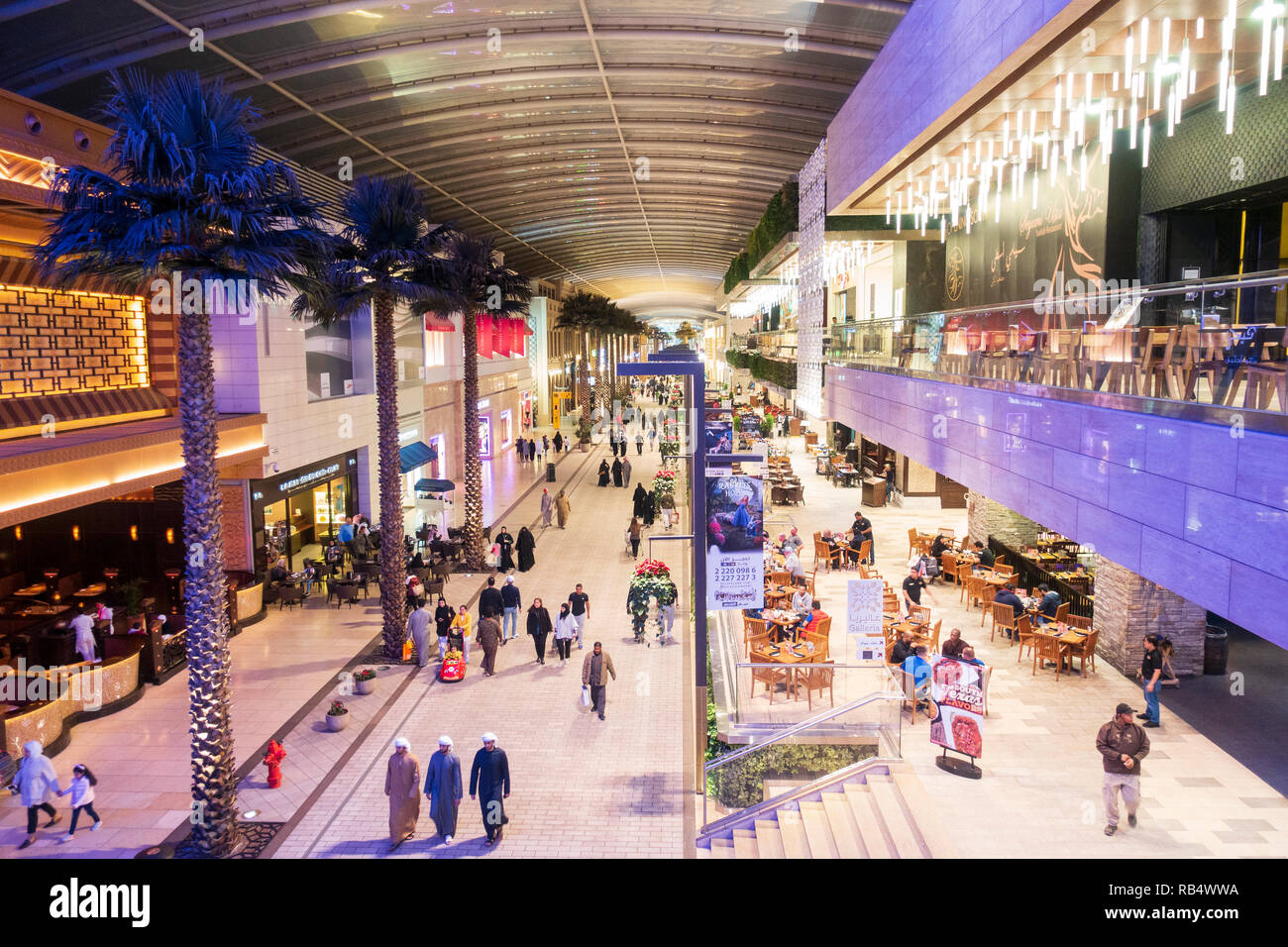 Interior of The Avenues shopping mall in Kuwait City, Kuwait - Stock Image