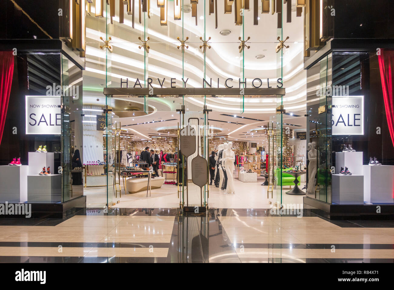 Hervey Nichols store in the  new Prestige luxury arcade with high-end boutiques inside The Avenues shopping mall in Kuwait City, Kuwait - Stock Image
