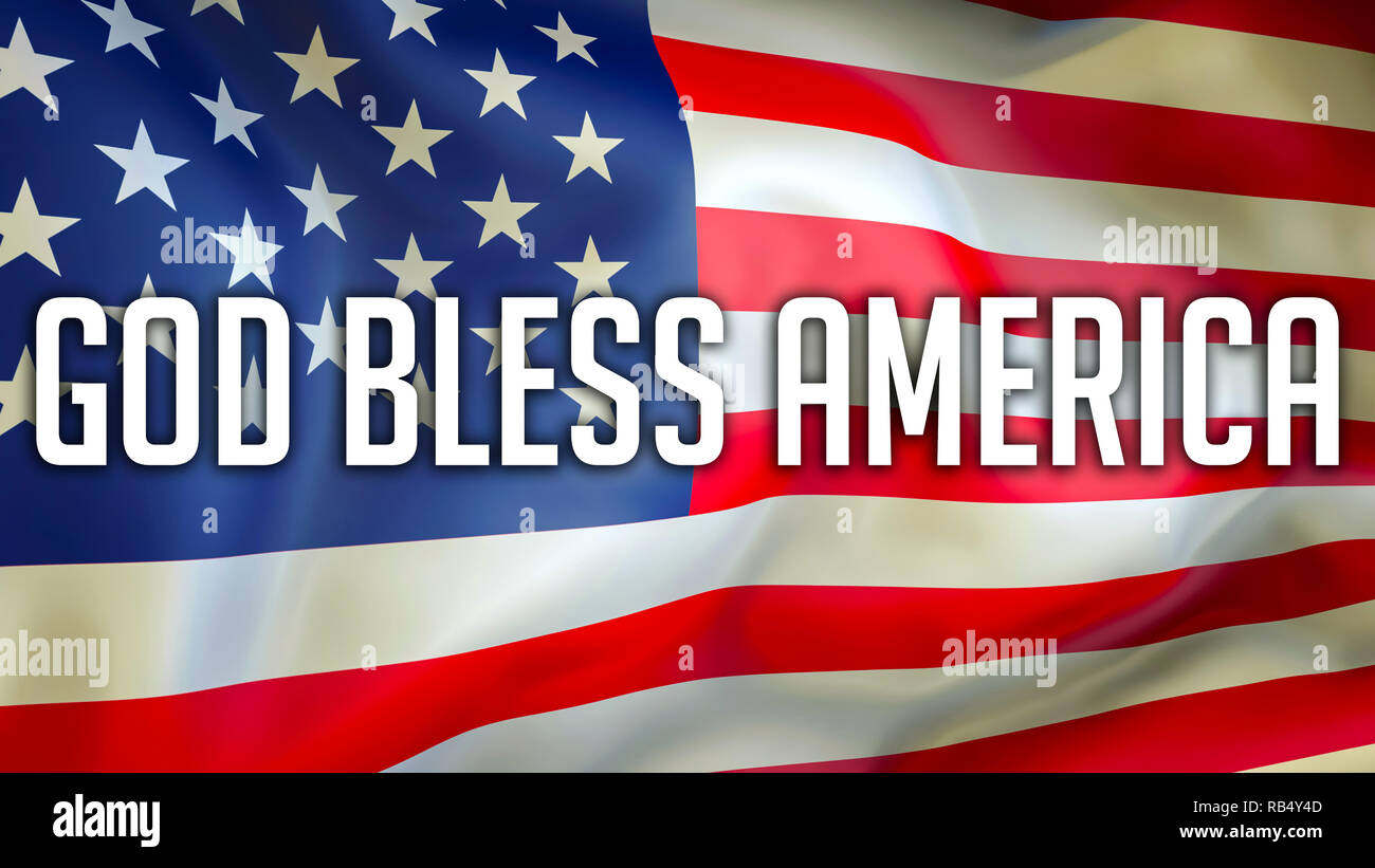 God Bless America American Flag Stock Photos God Bless America