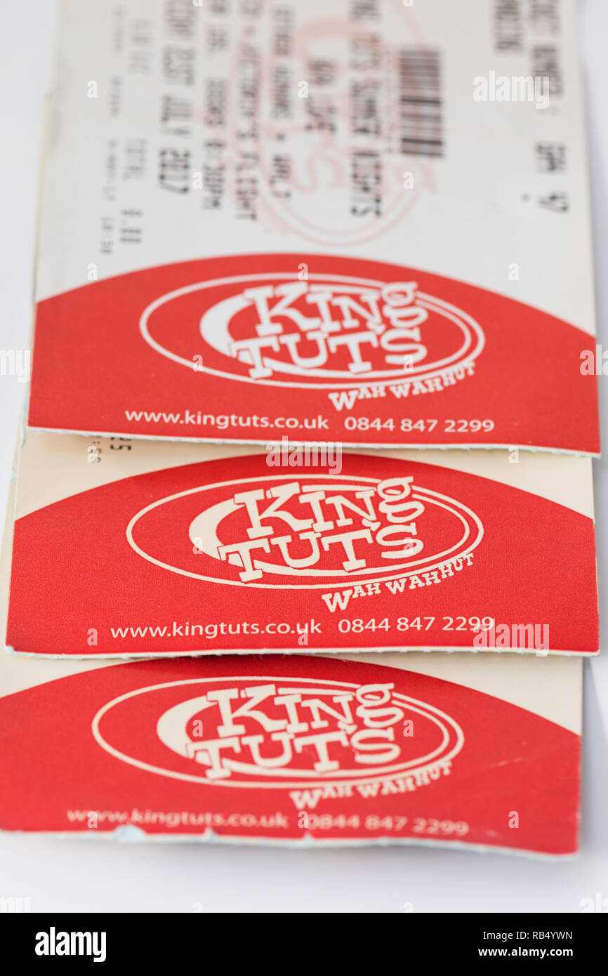 King Tuts Wah Wah Hut, Glasgow, Scotland, UK - tickets - Stock Image