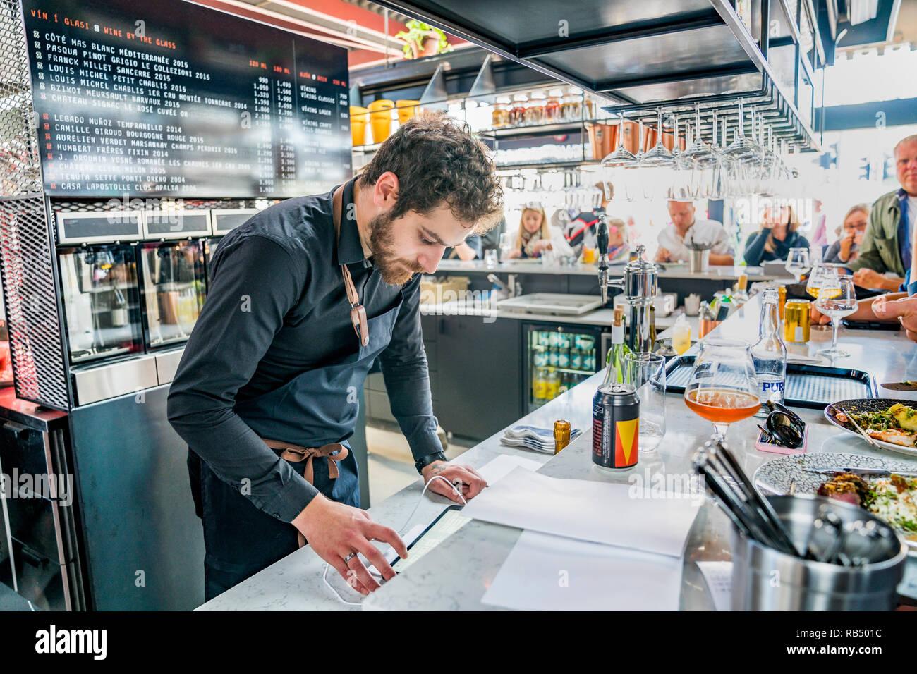 Cafe, Summer Festival, Cultural Day, Reykjavik, Iceland - Stock Image