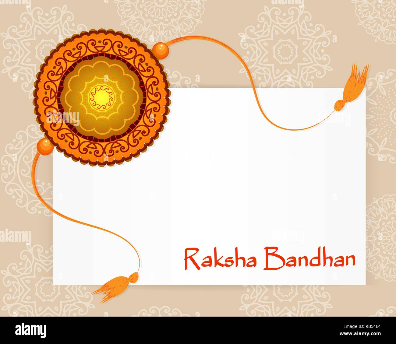Raksha Bandhan Festival Greeting Card Template. Beautiful
