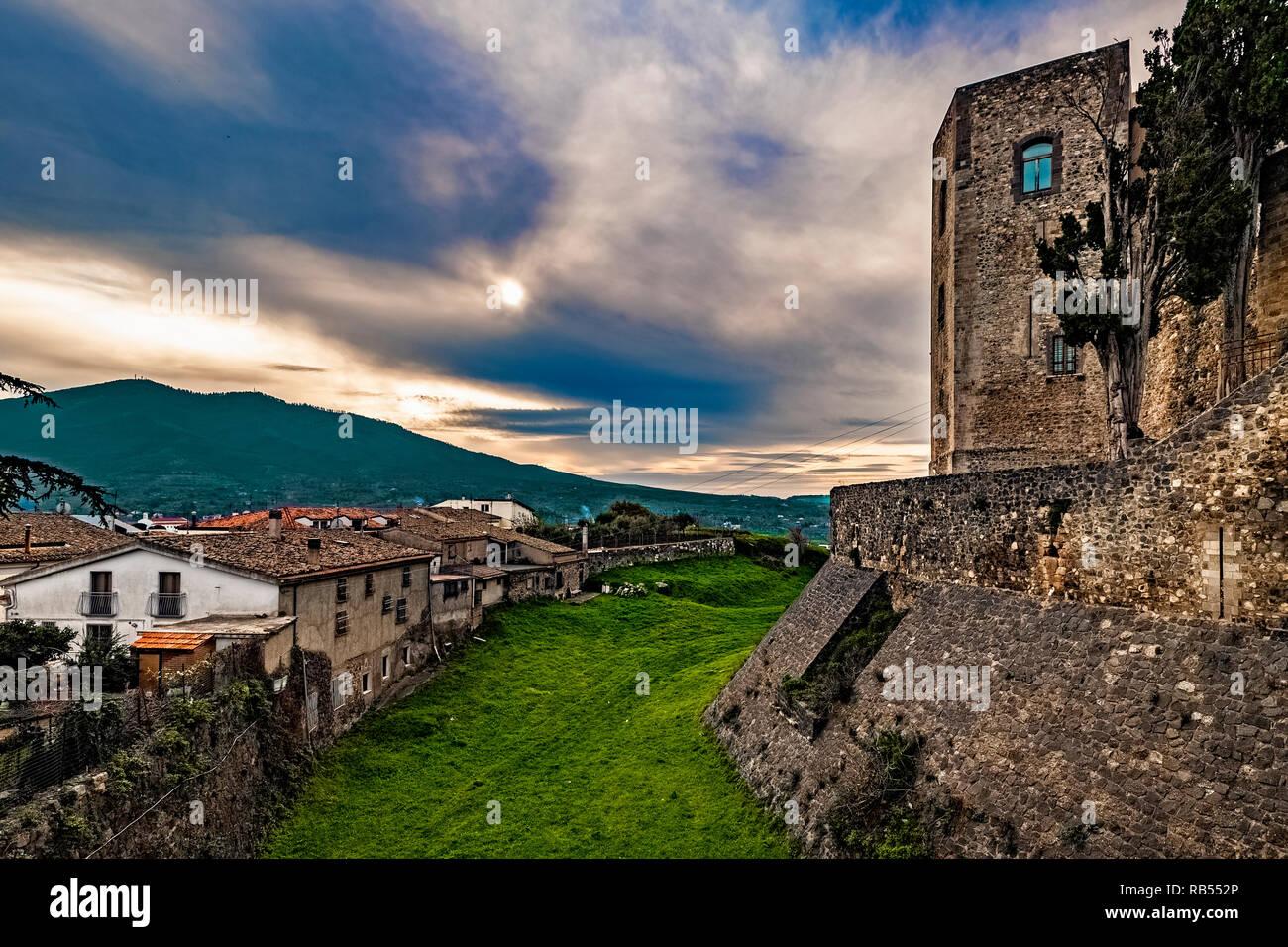 Italy Basilicata Melfi Castle National archeologic museum Stock Photo