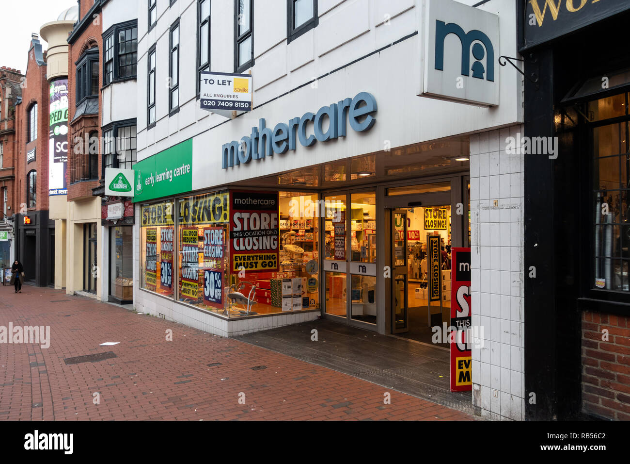 The Mothercare and Early Learning Centre store in Reeading, Berkshire is having a closing down sale. - Stock Image