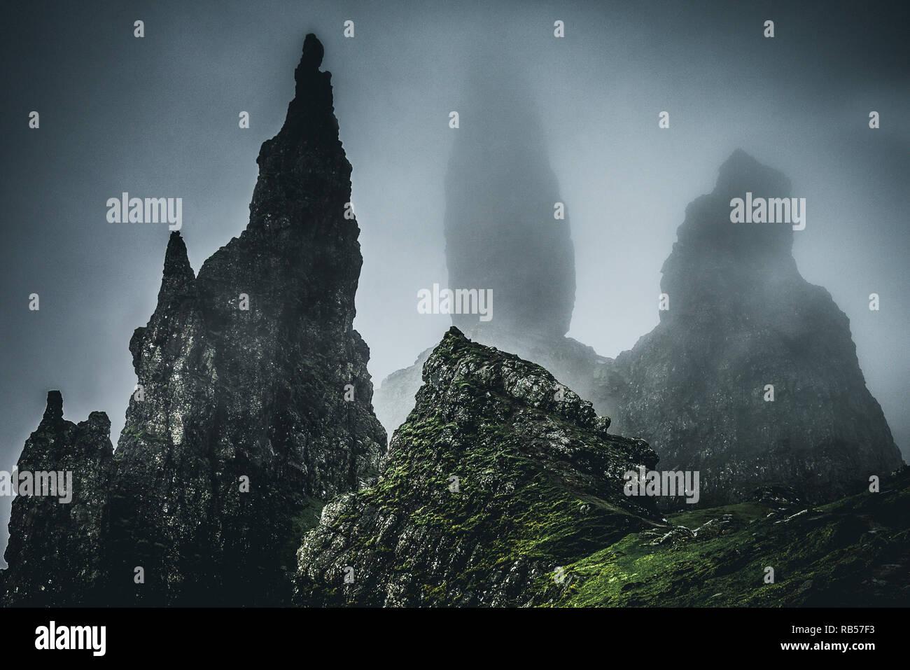 Scottish landscape photography Isle of Skye - Stock Image